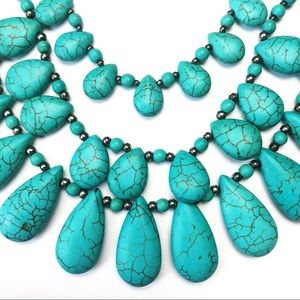 Jewelry - Turquoise Tiered Statement Necklace